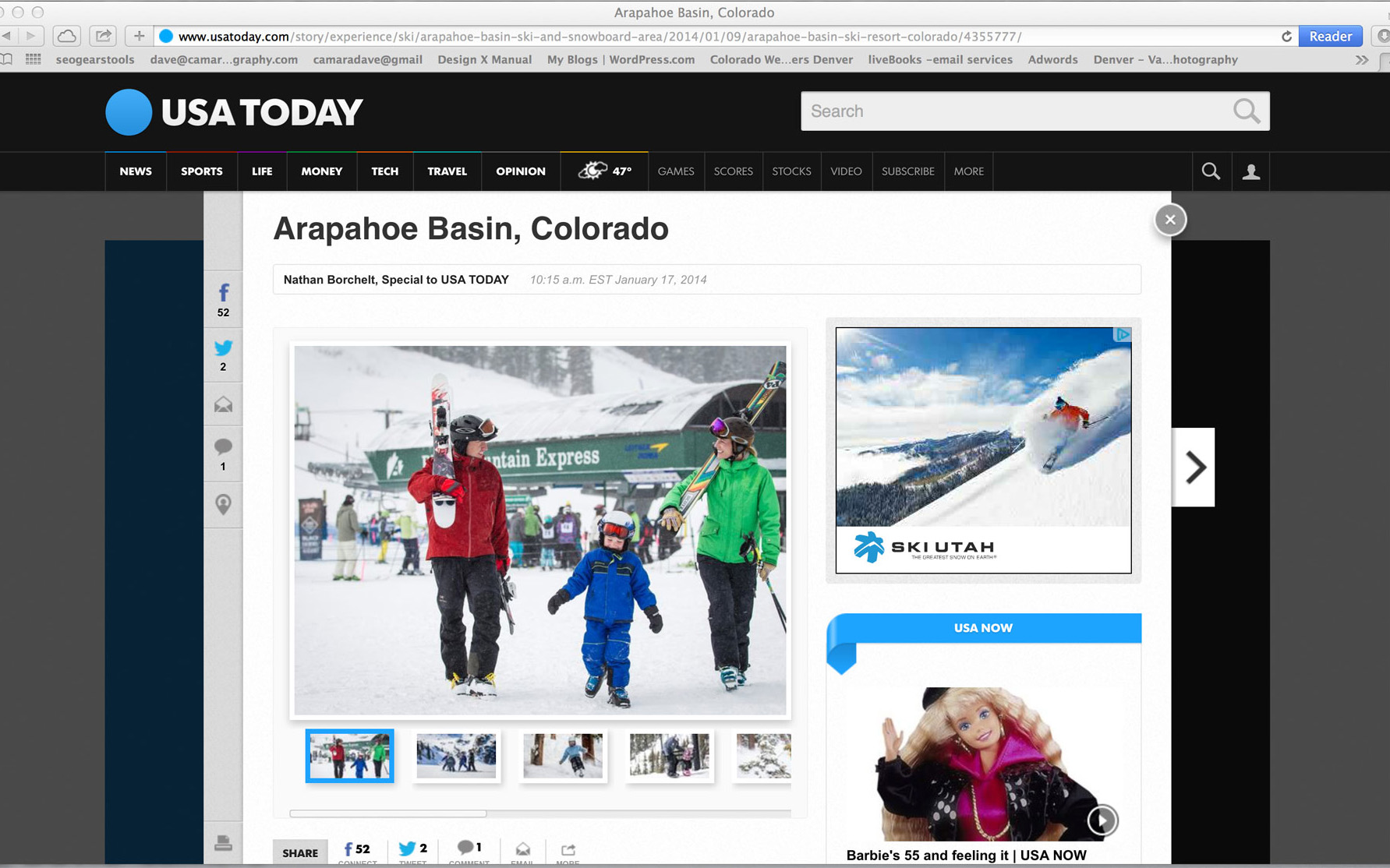 USA Today Arapahoe Basin Photos